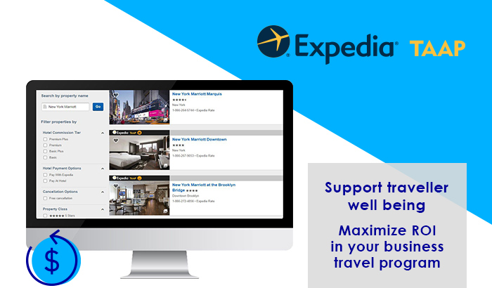 Expedia TAAP   Support traveller well being. Maximize ROI in your business travel program.